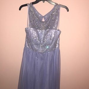 Lilac Prom Dress with sequined top
